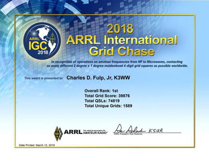 GRID CHASE CERTIFICATE
